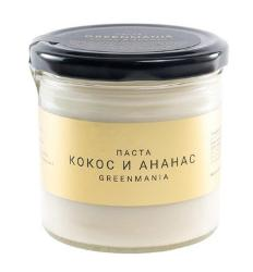 Паста кокос и ананас GreenMania (300 г)