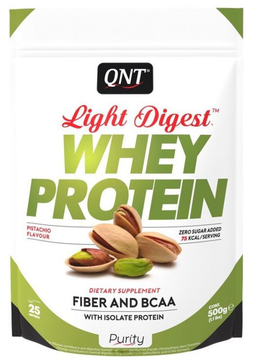 Протеин QNT Light Digest Whey, фисташковый (500 г)