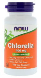 NOW Chlorella 400 mg (100 кап.)