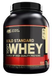 Протеин Optimum Nutrition 100 % Whey protein Gold standard 5 lb Клубника-банан (2270 г)