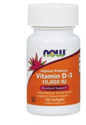 NOW Vitamin D-3 10000 ME 250 mg (120 капс)